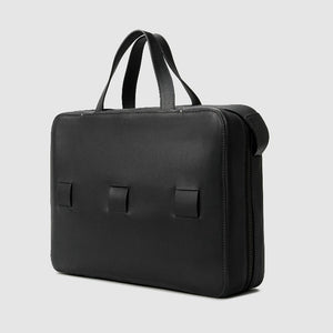 "13"" LAPTOP BRIEF french calfskin minimalist Bags leather ANSON CALDER _black"