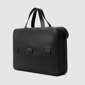"15"" LAPTOP BRIEF french calfskin minimalist Bags leather ANSON CALDER _black"