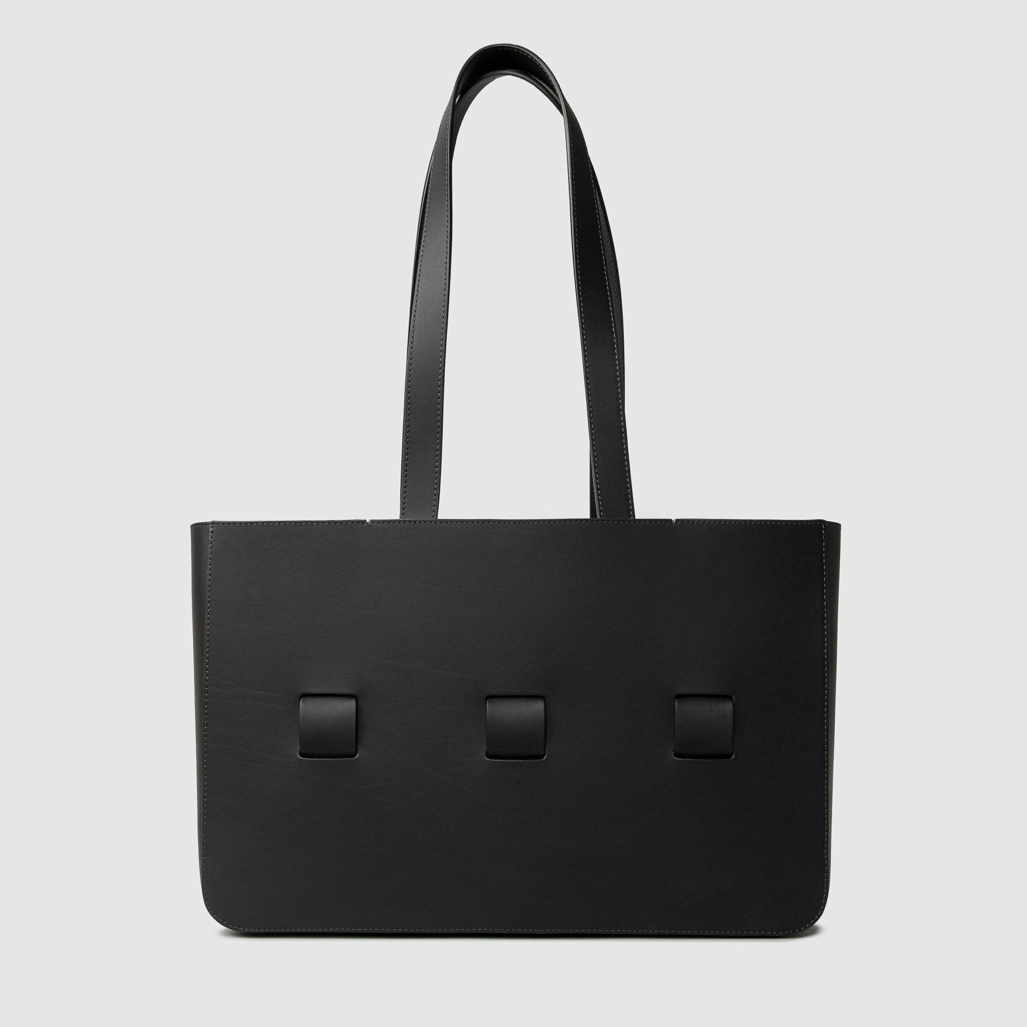 anson calder french calfskin leather tote _black