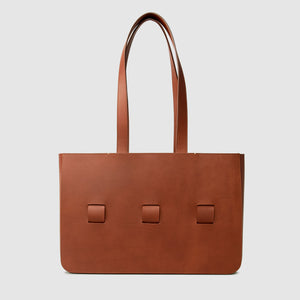 anson calder french calfskin leather tote _cognac