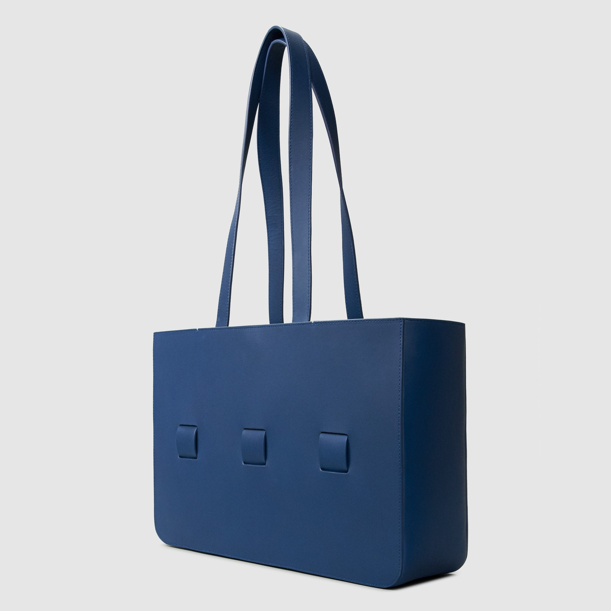 anson calder french calfskin leather tote _cobalt
