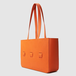 anson calder french calfskin leather tote _fshd-orange
