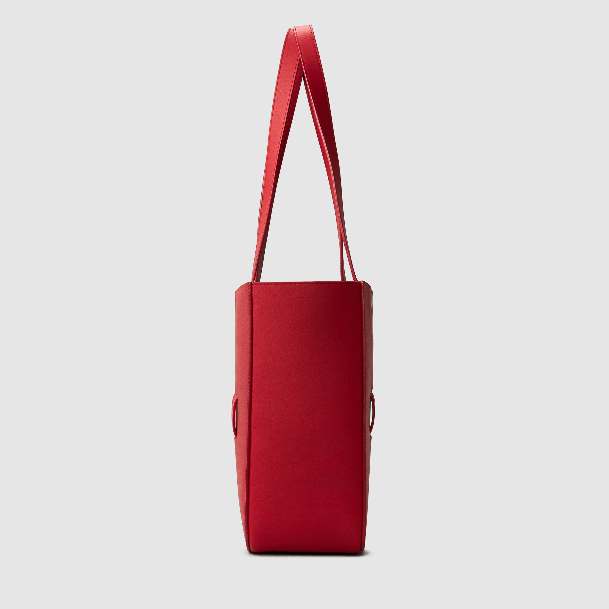 anson calder french calfskin leather tote _red