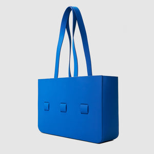anson calder french calfskin leather tote _sport-blue