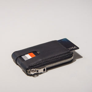 Anson Calder zip-around Wallet with zipper and pockets RFID french calfskin leather _all