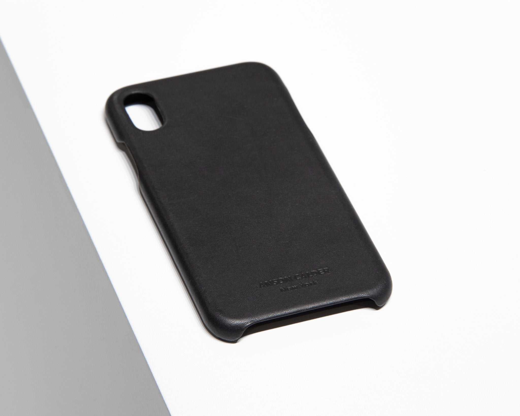 CALFSKIN iPHONE CASE CASES ANSON CALDER iPhone X _Black