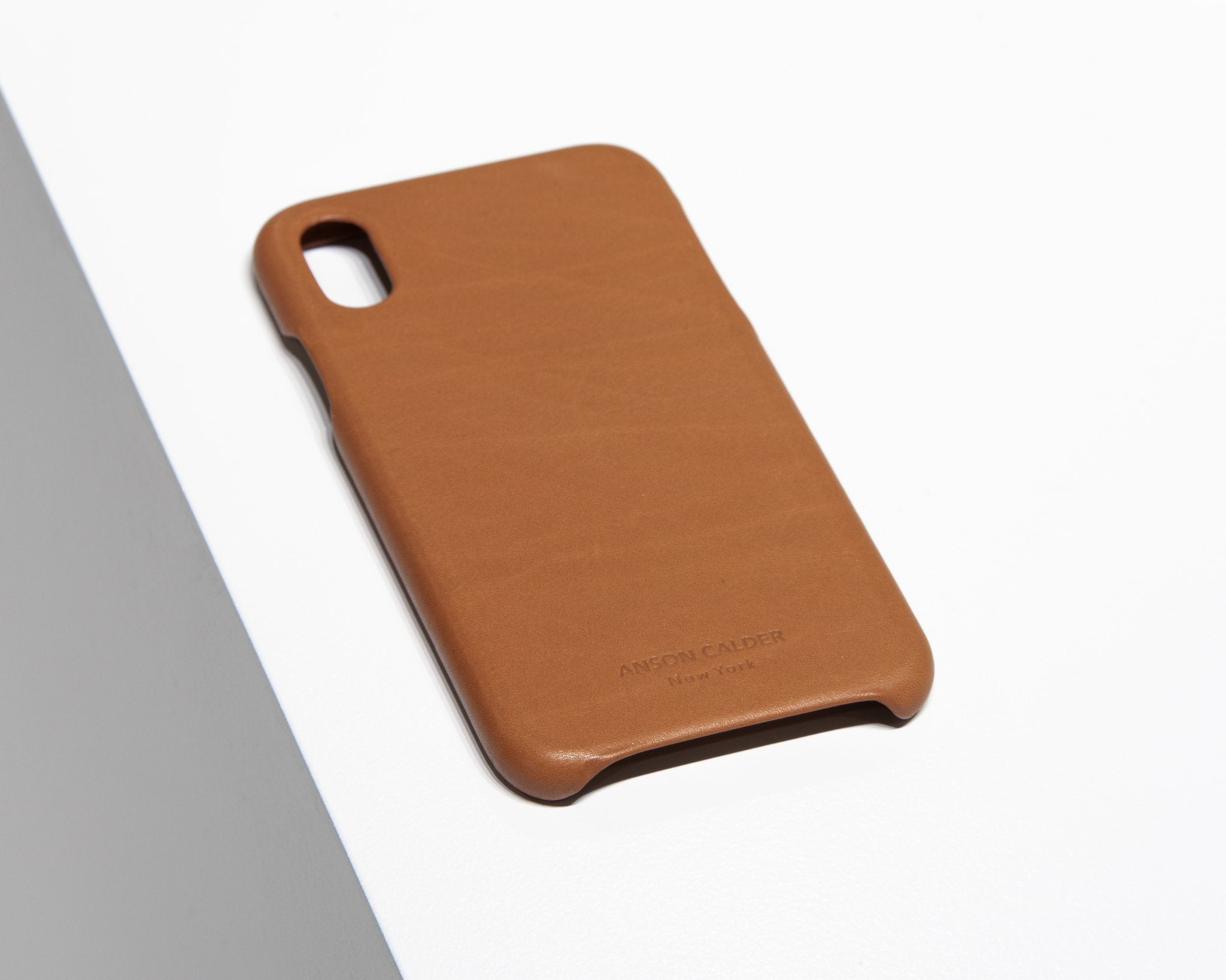 CALFSKIN iPHONE CASE CASES ANSON CALDER iPhone X _Cognac