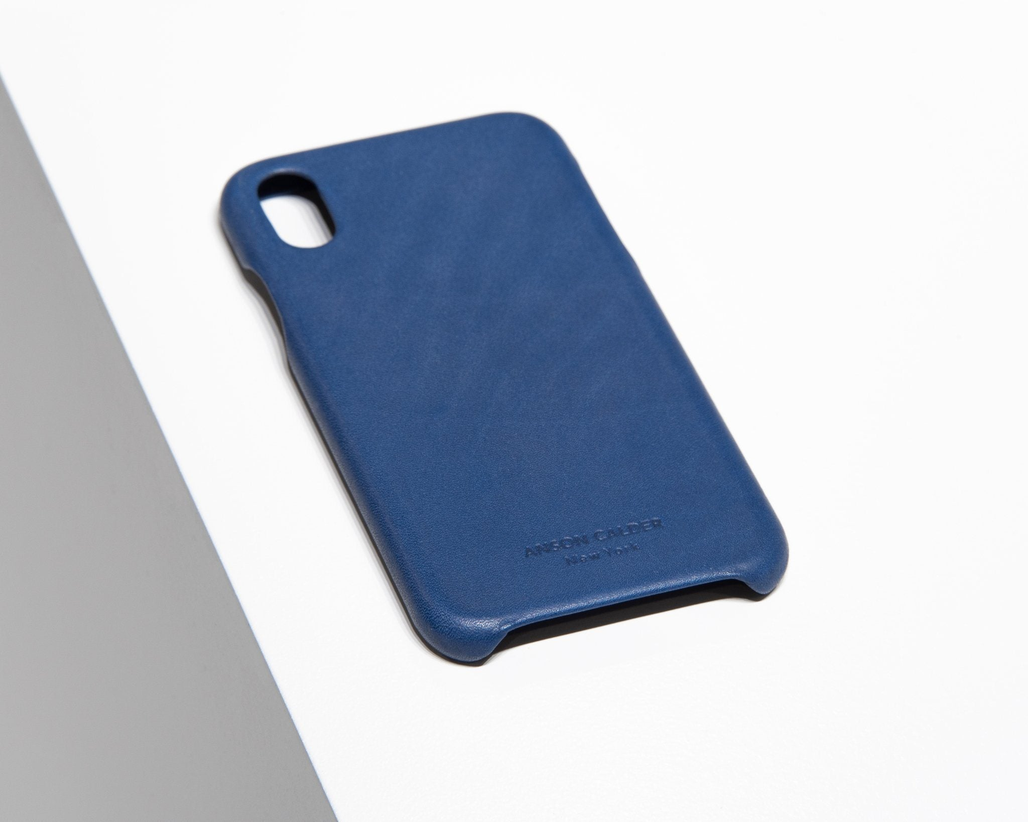 CALFSKIN iPHONE CASE CASES ANSON CALDER iPhone X _Cobalt