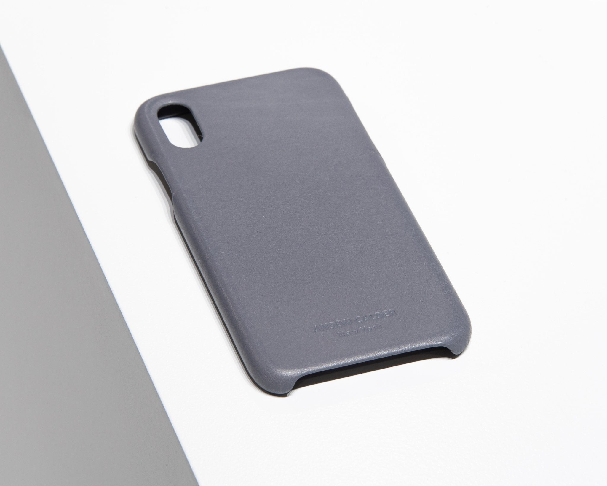 CALFSKIN iPHONE CASE CASES ANSON CALDER iPhone X !iphonex,iphonexr,iphonexs _steel-grey