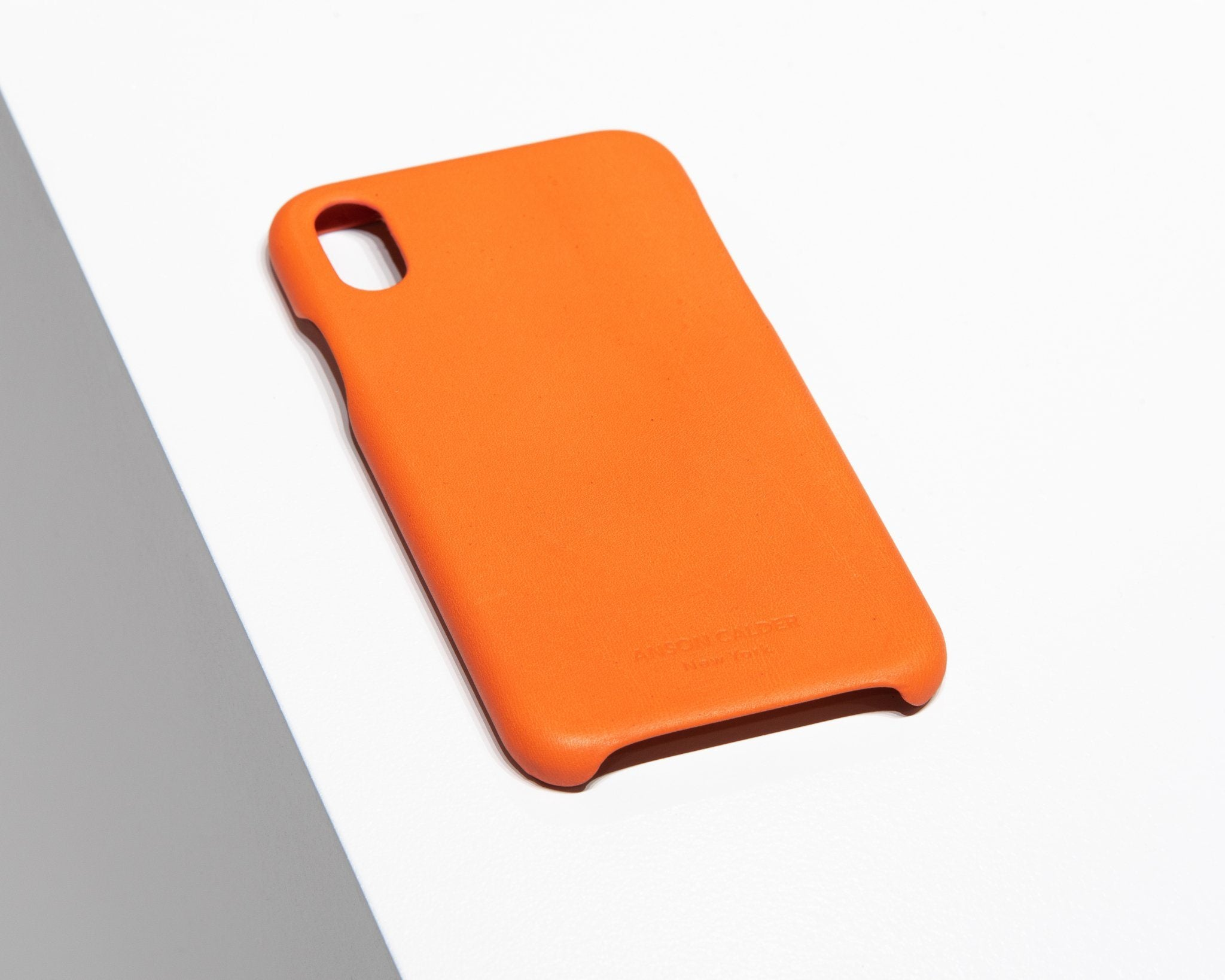 CALFSKIN iPHONE CASE CASES ANSON CALDER iPhone 8 _FSHD-Orange