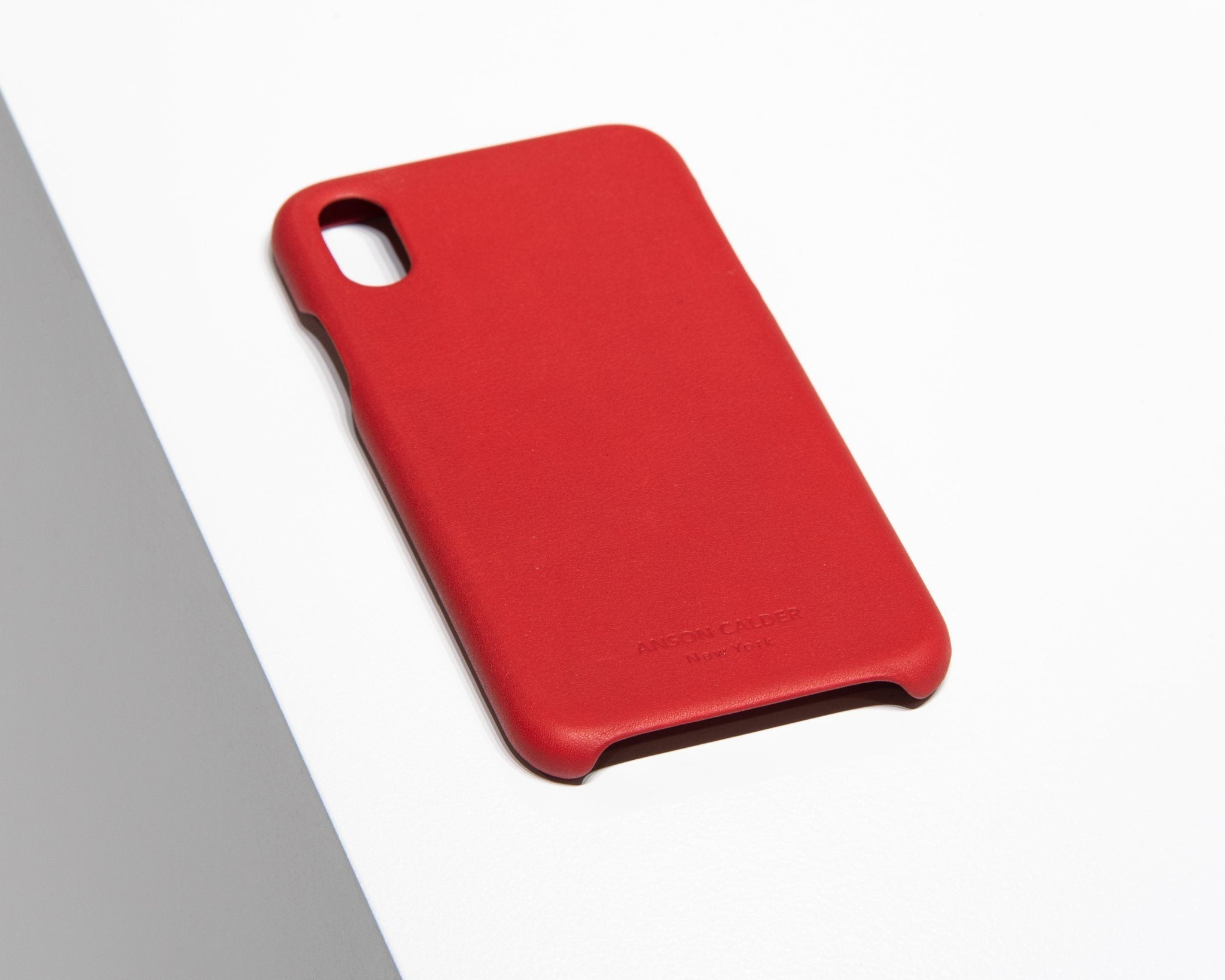 CALFSKIN iPHONE CASE CASES ANSON CALDER iPhone 8 _Red