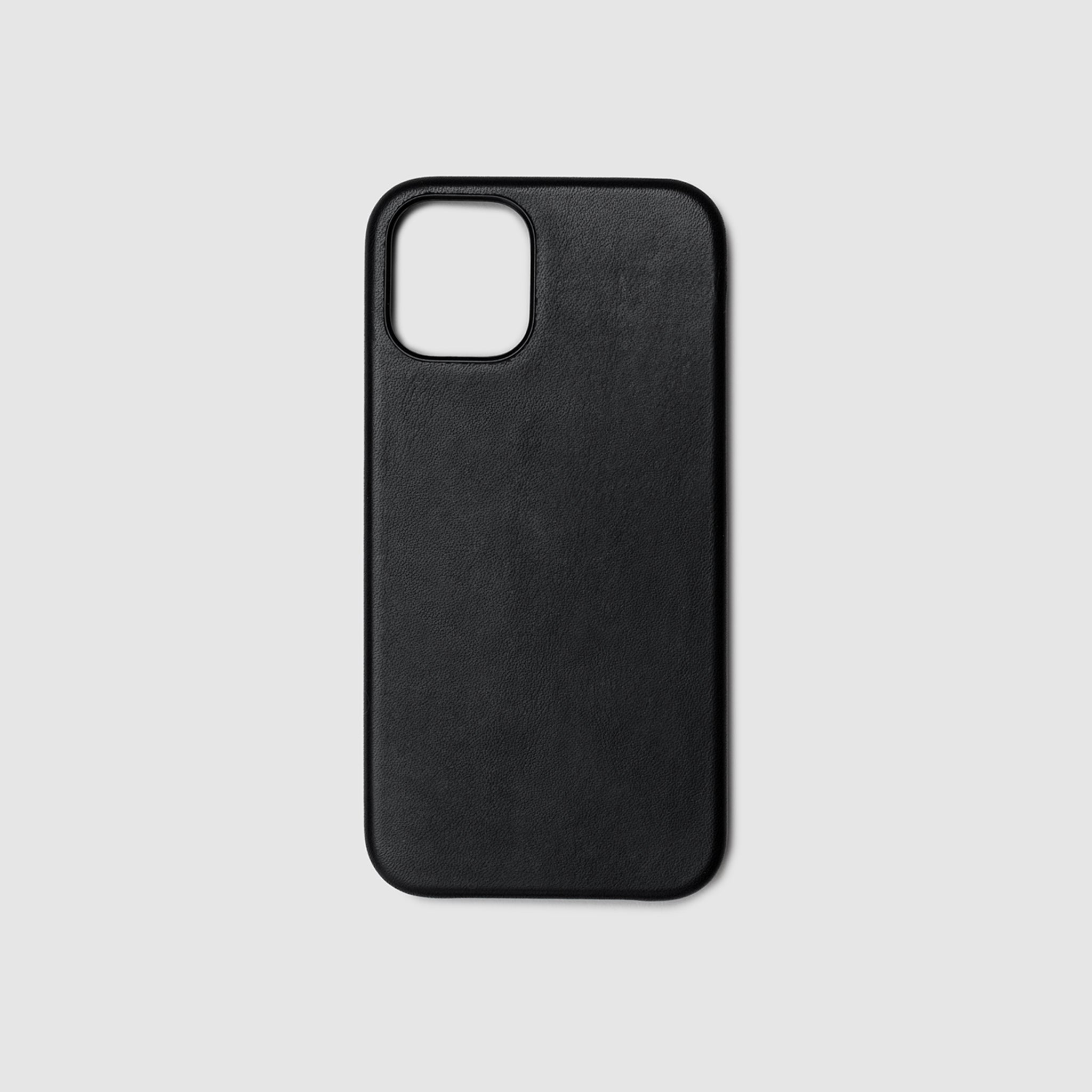 anson calder iphone case french calfskin 12 twelve pro max leather _black