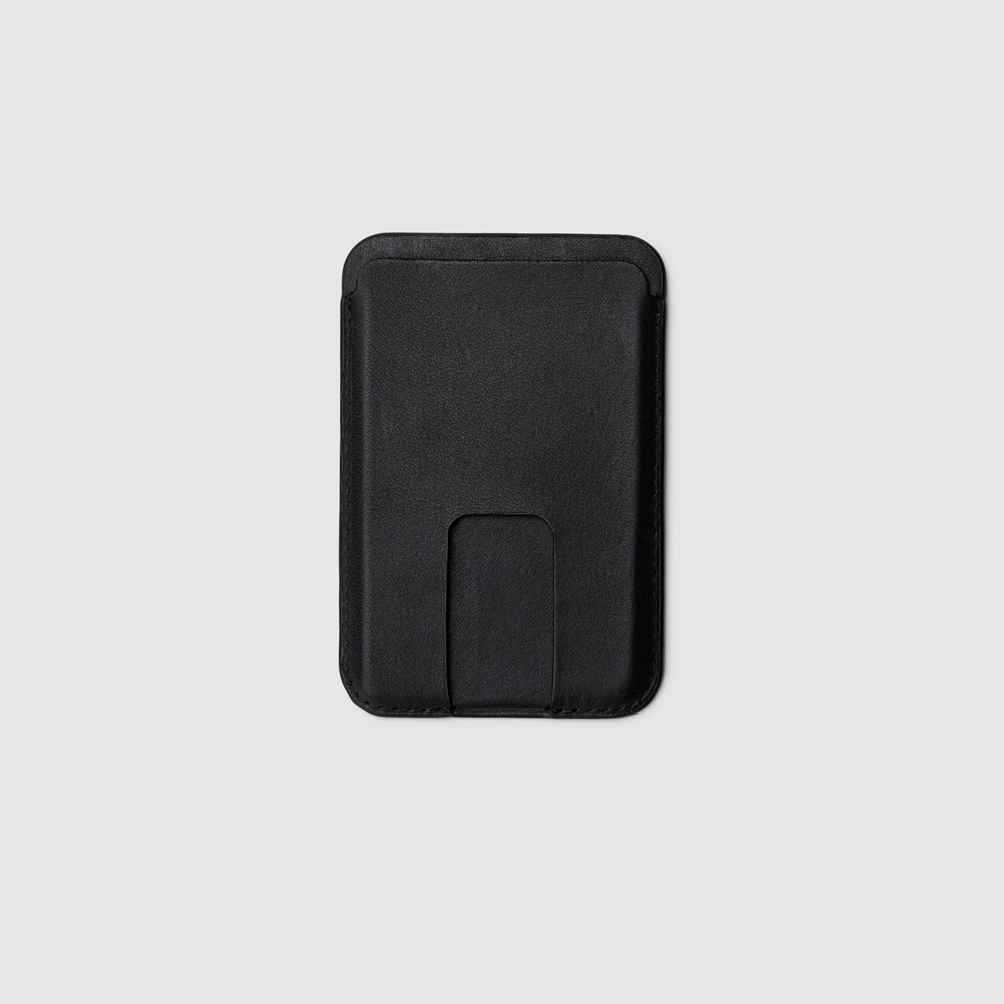 Anson Calder iPhone 12 Card wallet with magsafe french calfskin black _black