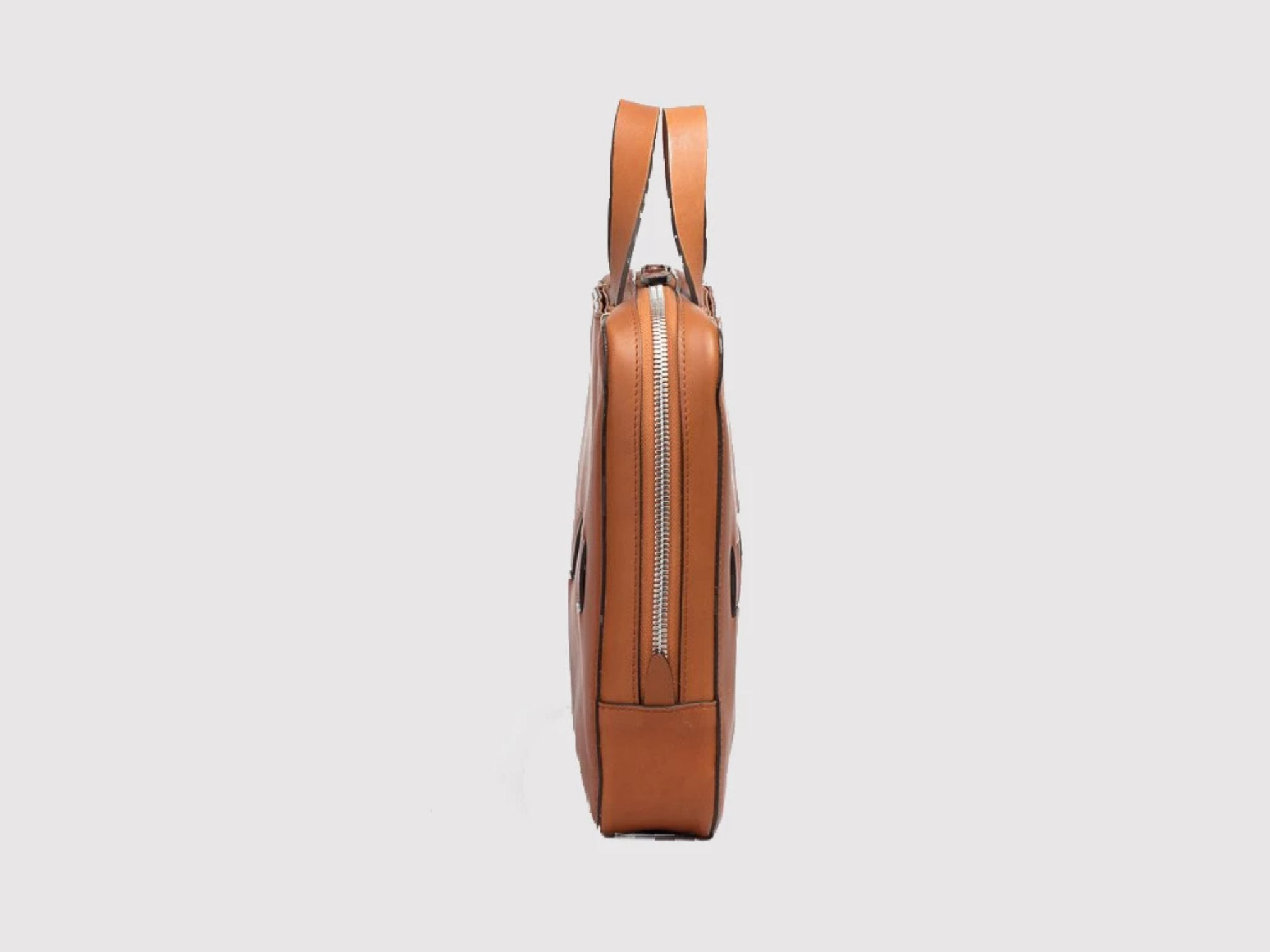anson calder slim brief french calfskin leather *hover _cognac