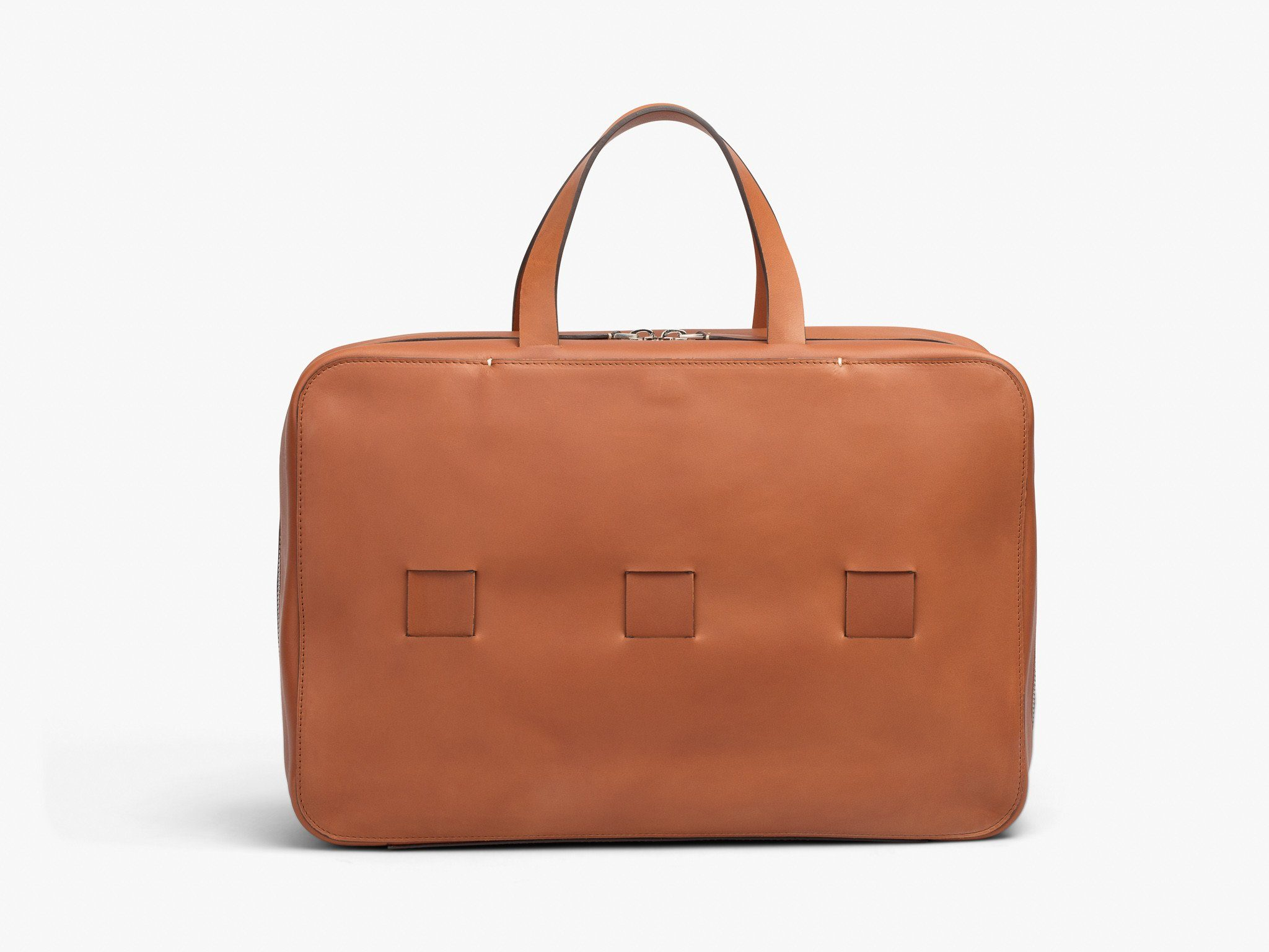 "15"" LAPTOP BRIEF Bags ANSON CALDER _Cognac"