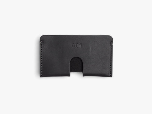 BUSINESS CARD CASE CASES ANSON CALDER French Calfskin Black