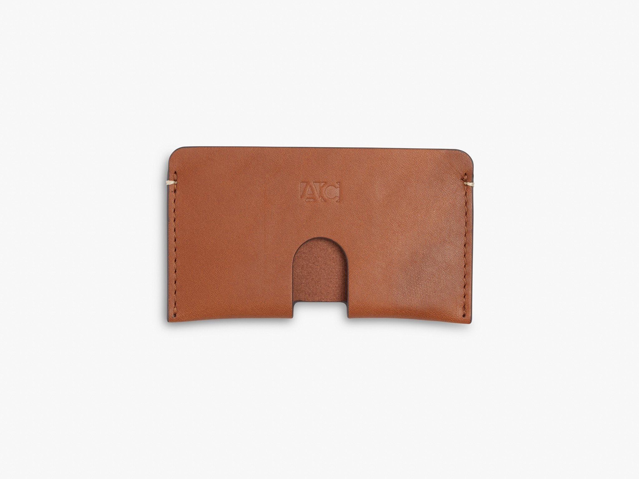 BUSINESS CARD CASE CASES ANSON CALDER French Calfskin _Cognac