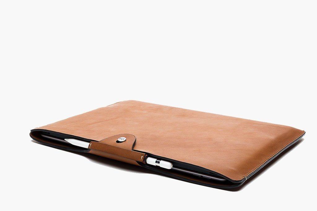 APPLE PENCIL SLEEVE (1st Generation) CASES ANSON CALDER French Calfskin _Cognac