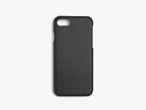 iPhone 7 black leather case