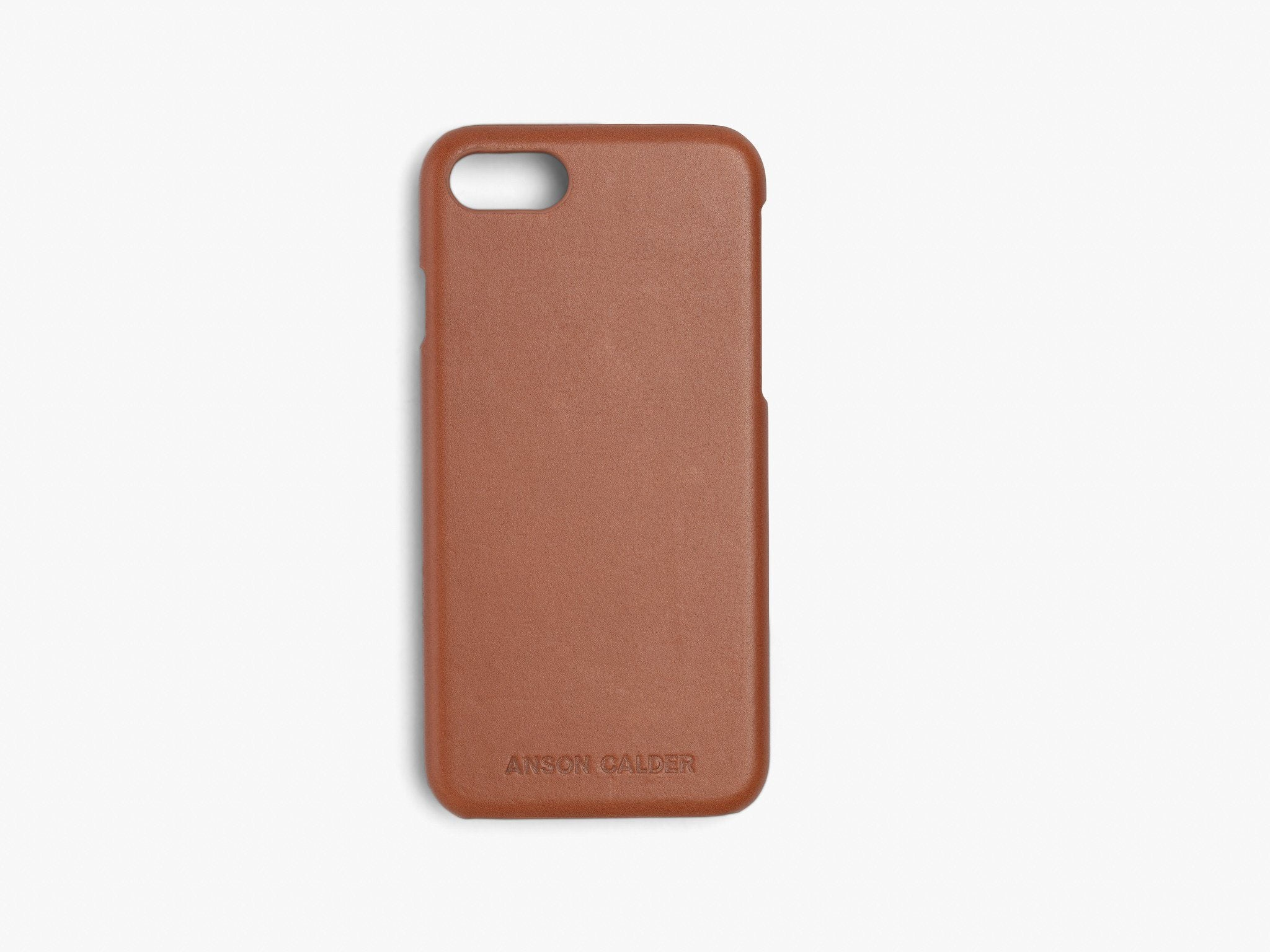 CALFSKIN iPHONE CASE CASES ANSON CALDER iPhone 6 / 6S !iphone8,phone7 _Cognac