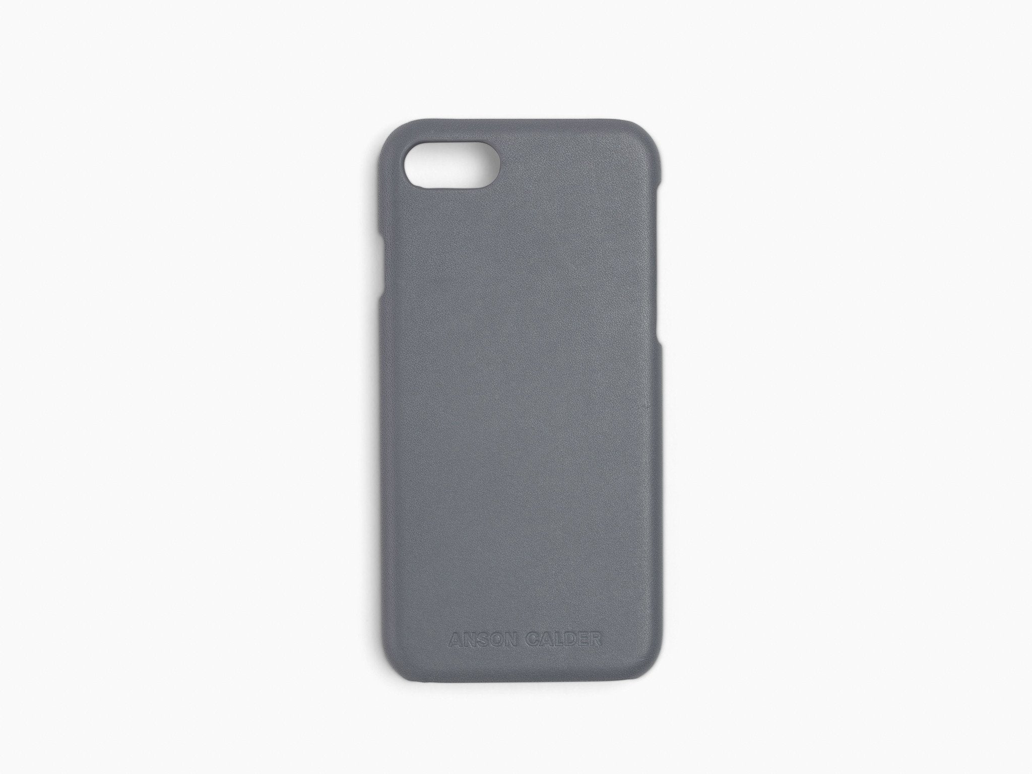 CALFSKIN iPHONE CASE CASES ANSON CALDER iPhone 7 !iphone7 _steel-grey