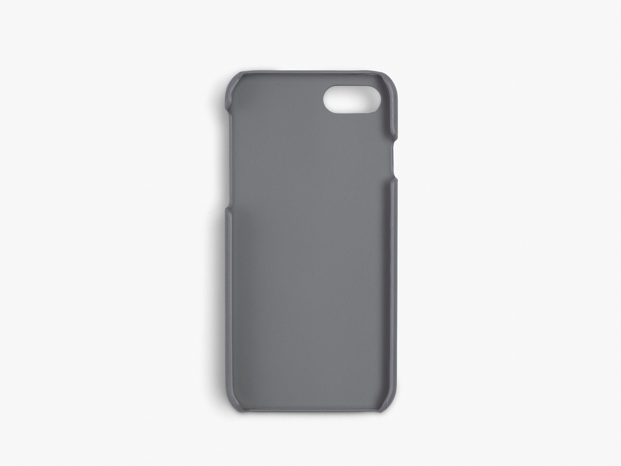 CALFSKIN iPHONE CASE CASES ANSON CALDER !iphone7 *hover _steel-grey