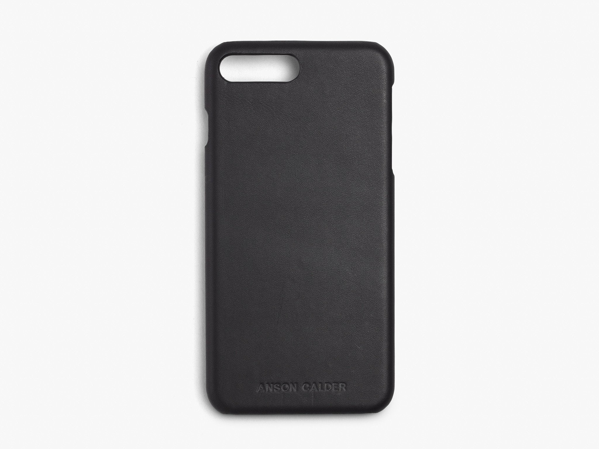 CALFSKIN iPHONE CASE CASES ANSON CALDER iPhone 8 Plus !iphone8plus  _Black