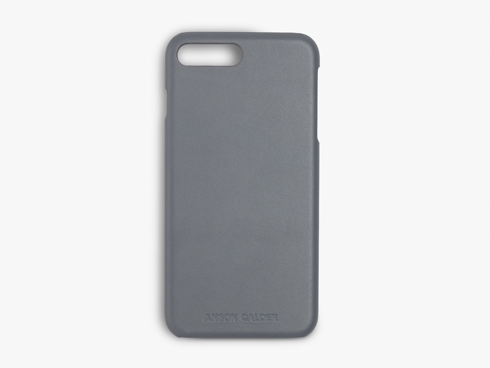 CALFSKIN iPHONE CASE CASES ANSON CALDER iPhone 6 Plus !iphone7plus _Steel-Grey