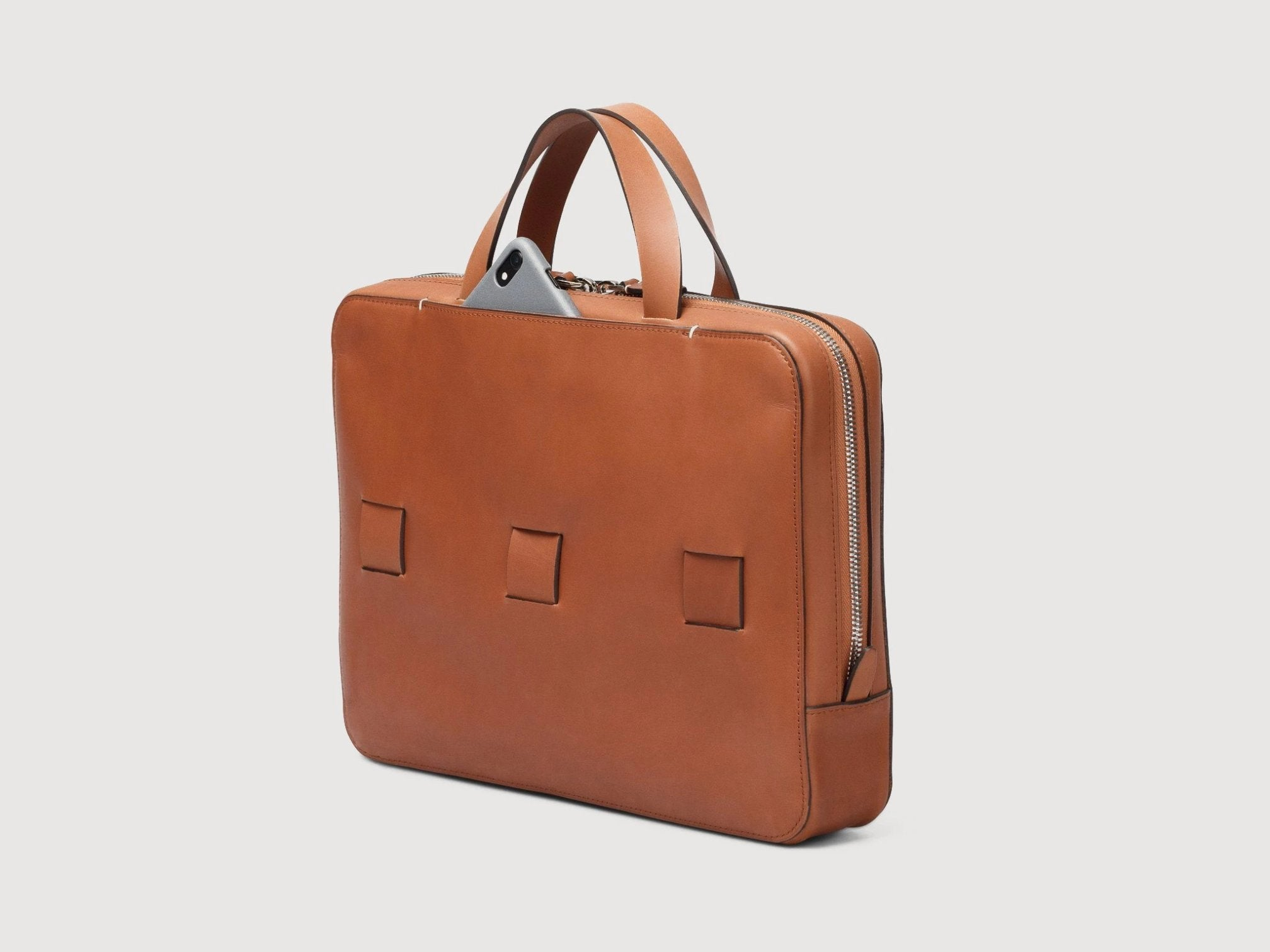 slim brief anson calder french calfskin _cognac