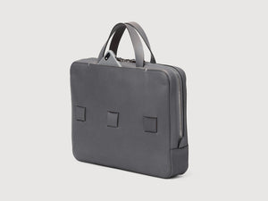 anson calder slim brief french calfskin leather *hover _steel-grey