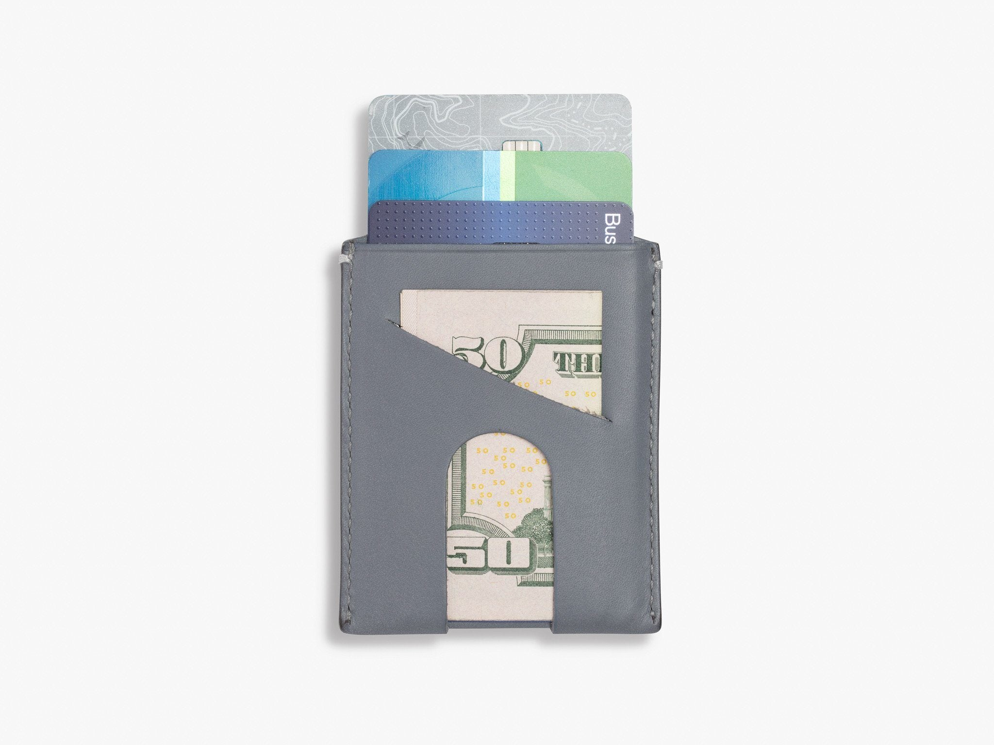 ORIGINAL CARD WALLET WALLET ANSON CALDER _Steel-Grey Card Non-RFID
