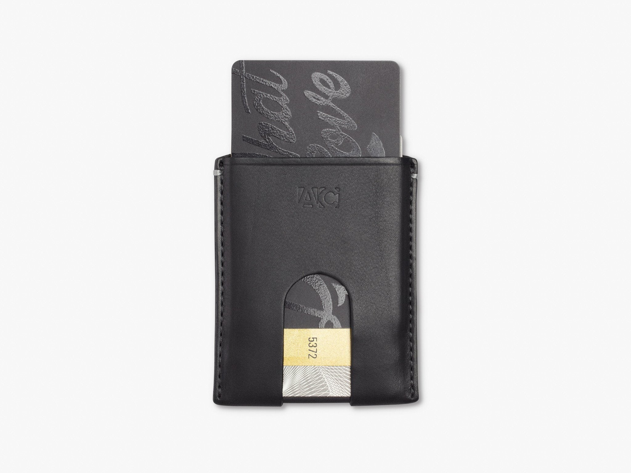 ORIGINAL CARD WALLET WALLET ANSON CALDER _Black