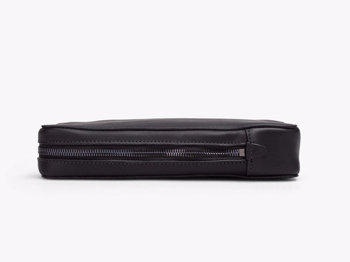 ZIPPER POUCH CASES ANSON CALDER Tall French Calfskin Black