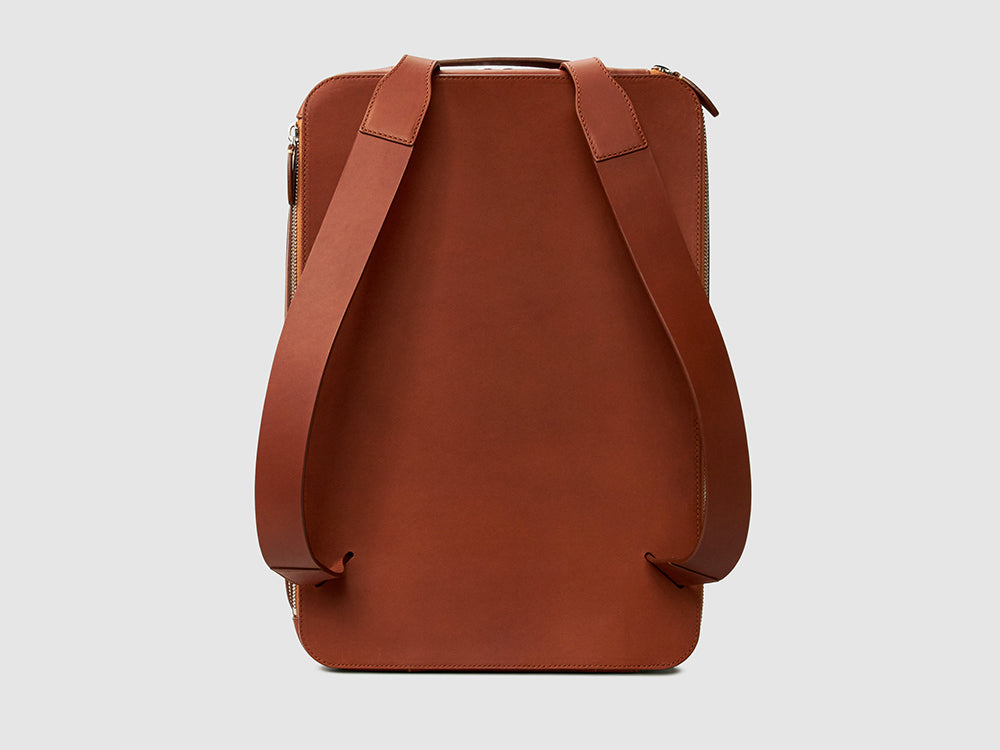 BACKPACK Bags ANSON CALDER French Calfskin Black _cognac