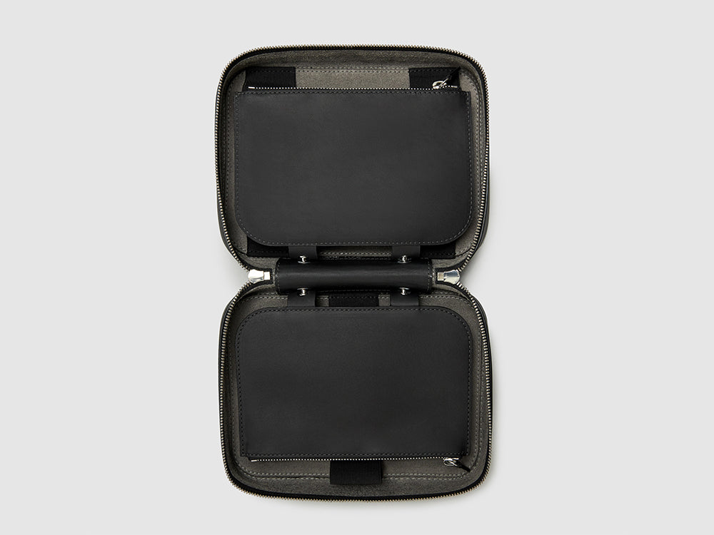 TOILETRY KIT CASES ANSON CALDER sport leather _sport-black
