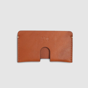 anson calder business card case french calfskin _cognac