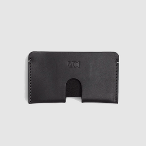 anson calder business card case french calfskin _black