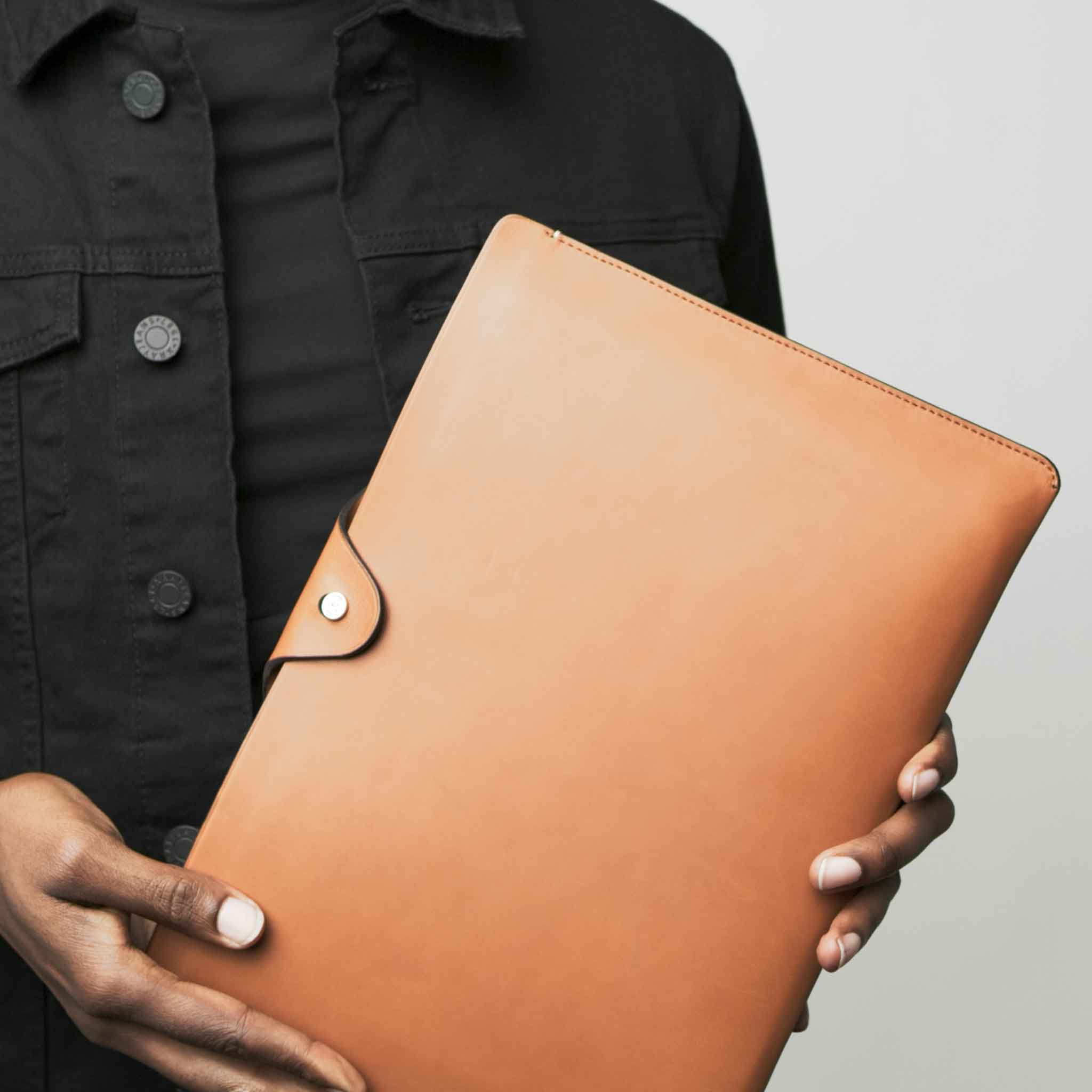 Anson Calder ipad pro sleeve case french calfskin _all