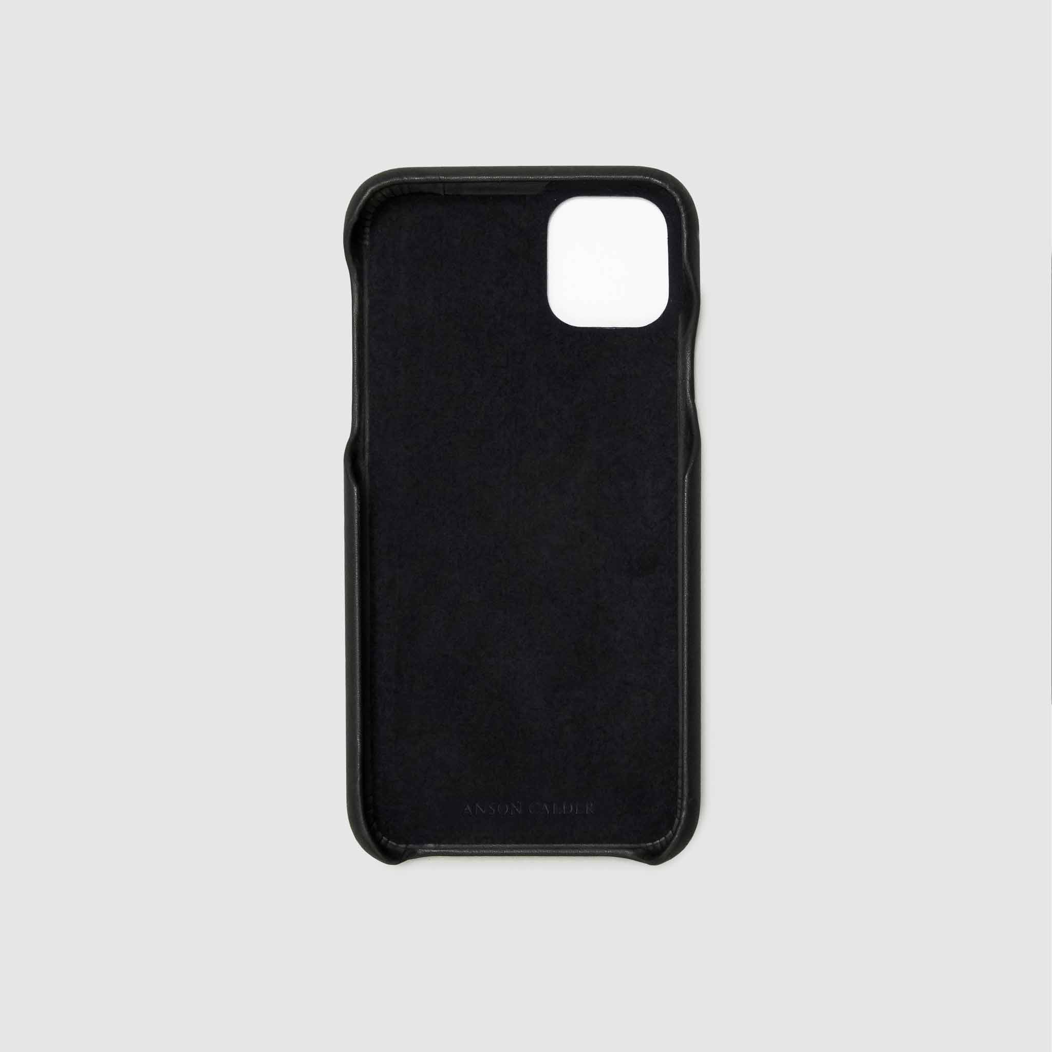 anson calder iphone case french calfskin 11 eleven pro max leather !iphone11pro-iphone11promax  _black