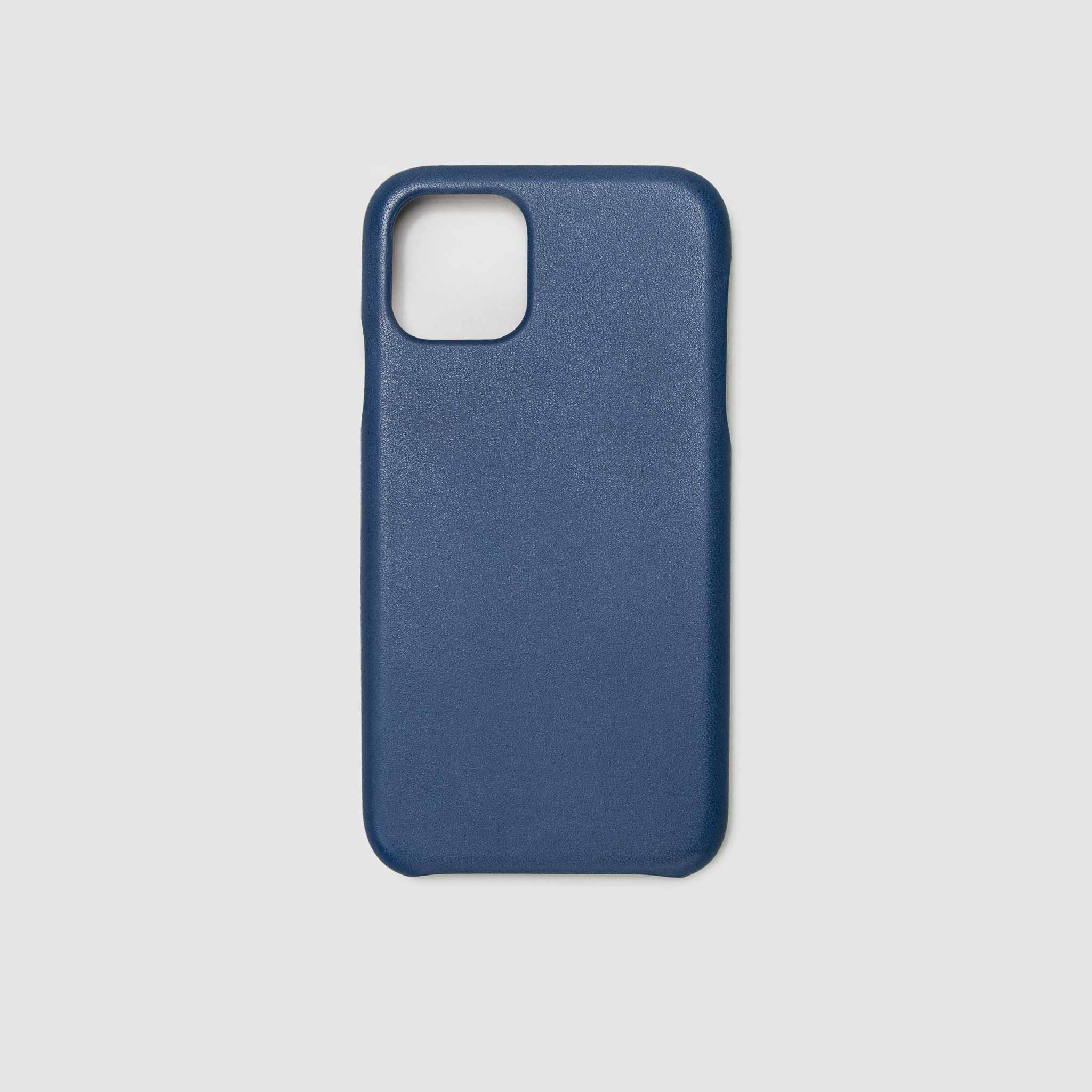 anson calder iphone case french calfskin 11 eleven pro max leather  !iphone11pro-iphone11promax  _cobalt