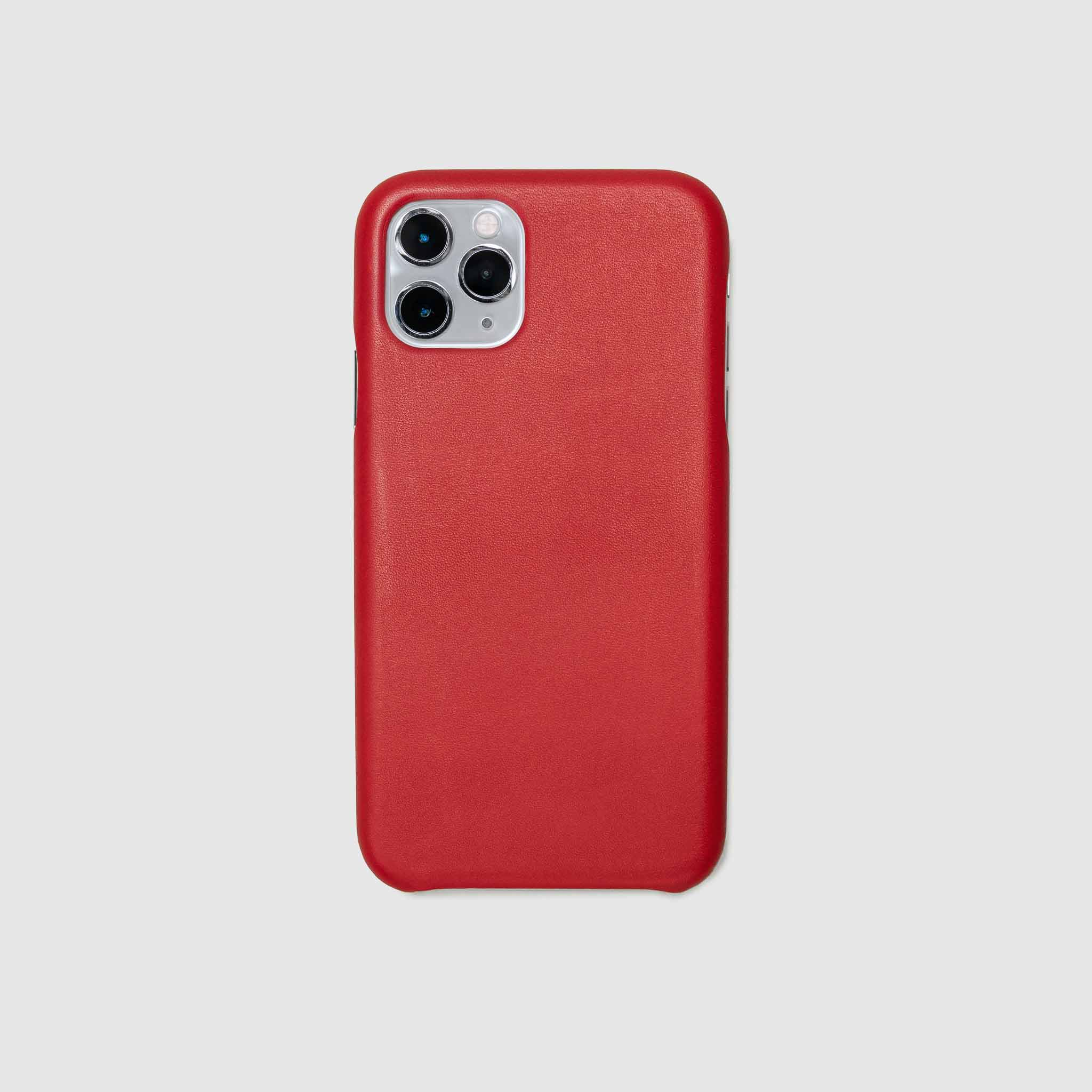 anson calder iphone case french calfskin 11 eleven pro max leather !iphone11pro-iphone11promax  *hover  _red