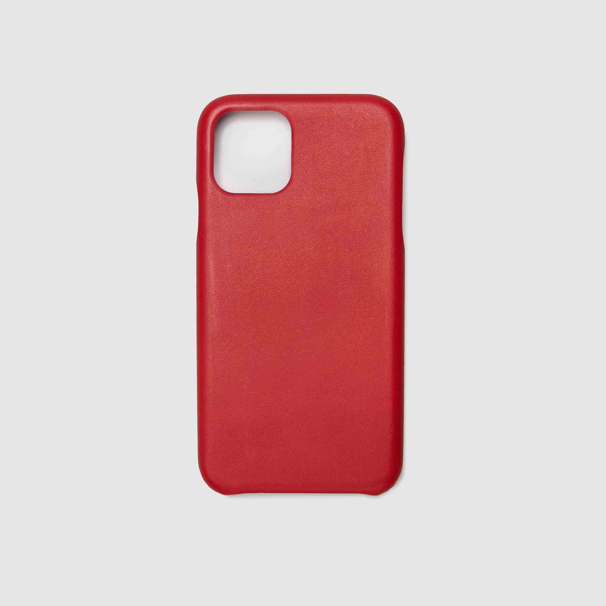 anson calder iphone case french calfskin 11 eleven pro max leather !iphone11pro-iphone11promax   _red