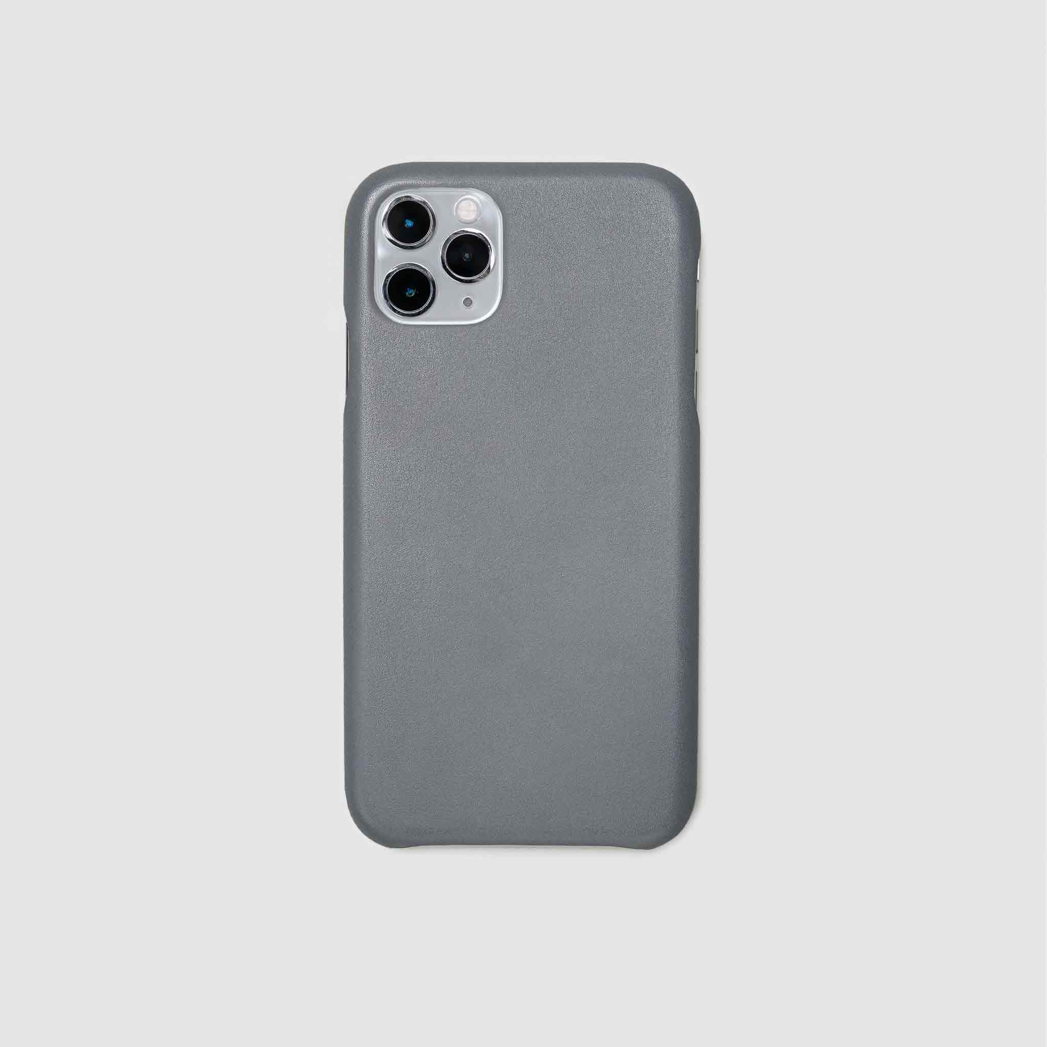 anson calder iphone case french calfskin 11 eleven pro max leather !iphone11pro-iphone11promax *hover  _steel-grey