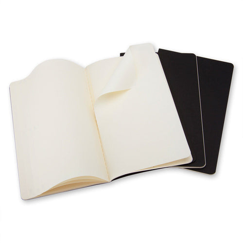 MOLESKINE® CAHIER JOURNAL - SET OF 3 PARTNER PRODUCT MOLESKINE Pocket Plain Black