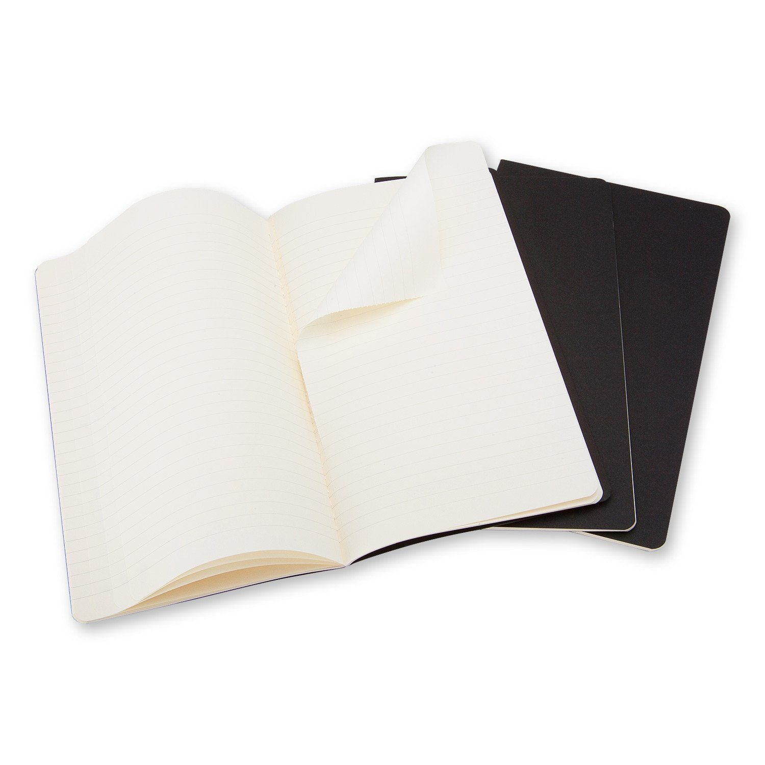 MOLESKINE® CAHIER JOURNAL - SET OF 3 PARTNER PRODUCT MOLESKINE Pocket Ruled _Black