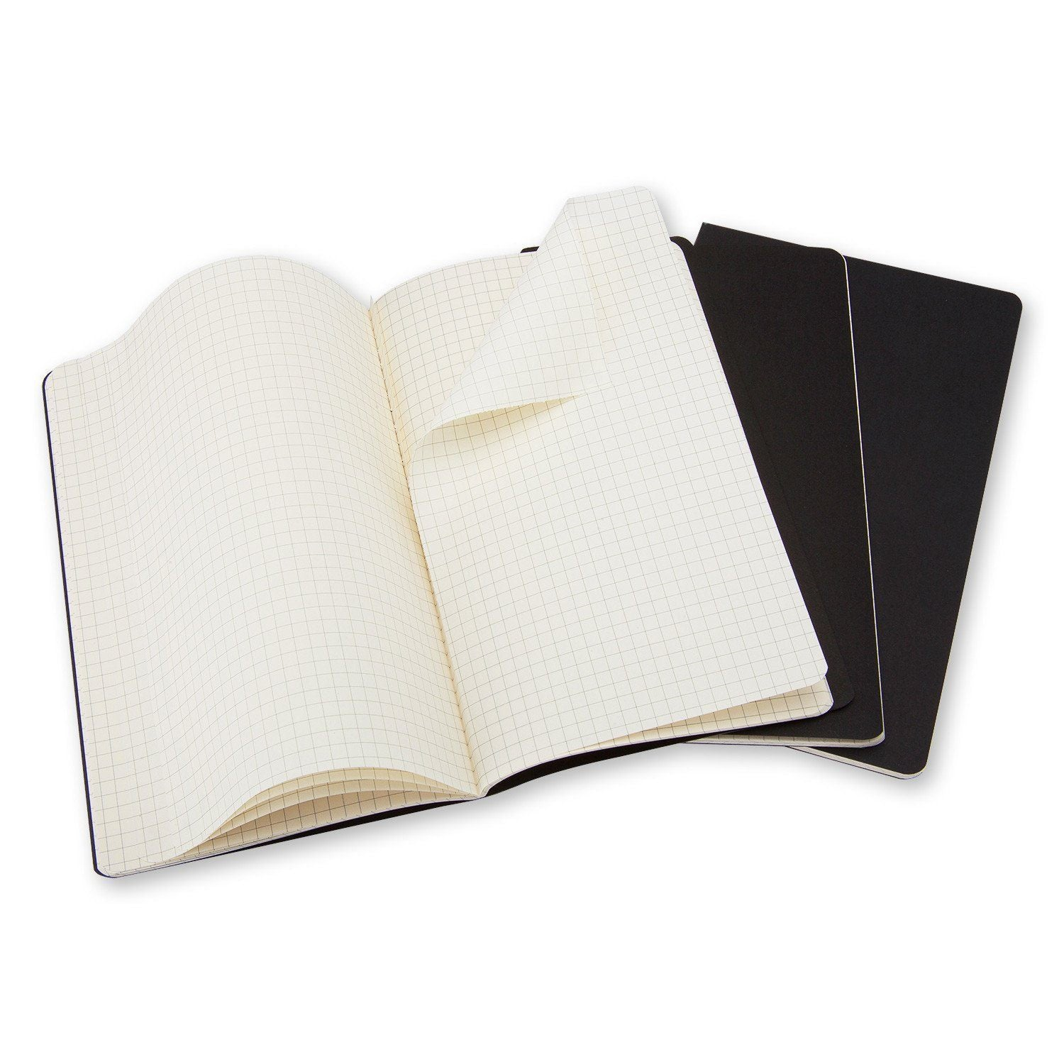 MOLESKINE® CAHIER JOURNAL - SET OF 3 PARTNER PRODUCT MOLESKINE Pocket Square Black