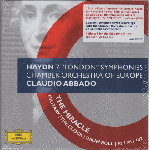"CD - Abbado/COE: Haydn 7 ""London"" Symphonies - DG 477 8117 (4CD Box Set, Sealed)"