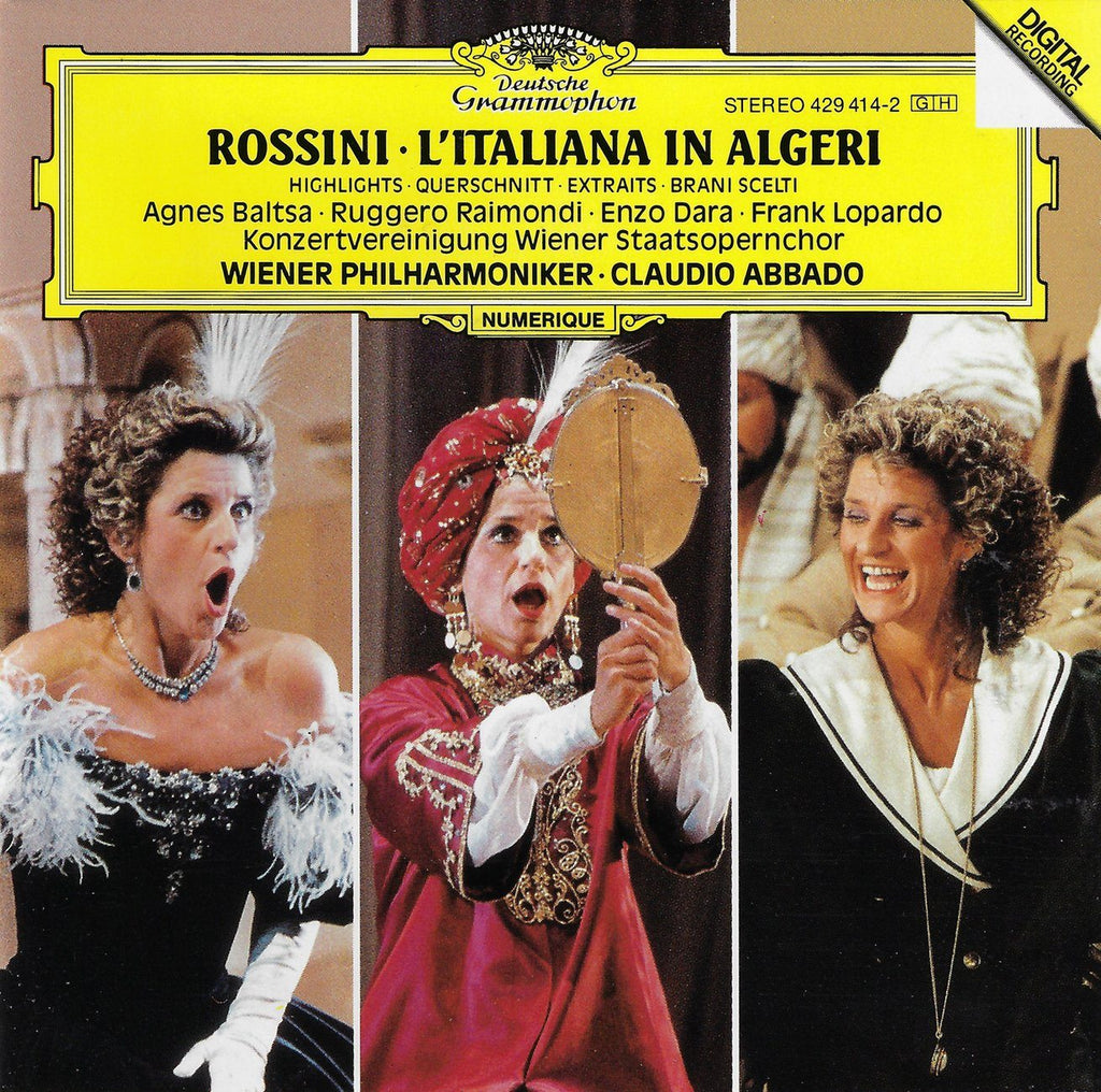 Abbado: Rossini L'Italiana in Algeri (highlights) - DG 429 414-2