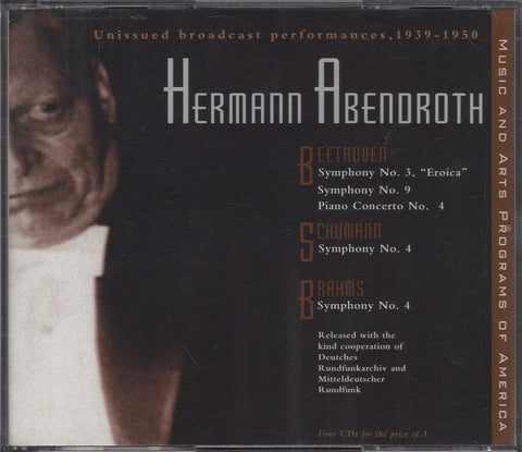 CD - Abendroth: Broadcast Performances 1939-1950 - Music & Arts CD 1065 (4CD Set)