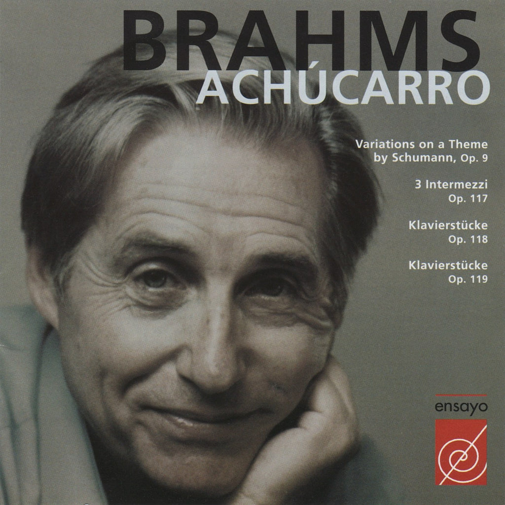 CD - Achucarro: Brahms Piano Recital (Opp. 9, 117, 118, 119) - ENY-CD-9805